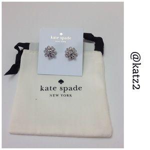 Kate Spade ♠️ Silver Bourgeois Bows